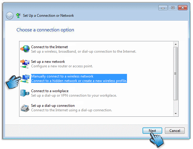 Set Up Network Connetion
