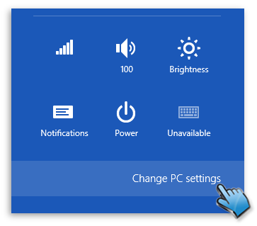 Change PC settings