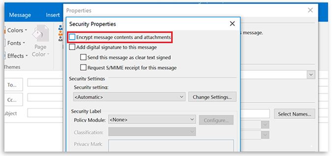 How to Set an Encryption to Your Email in Outlook 2016 ...